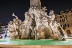 Fontana dei Quattro Fiumi. Centre Rome, Italy Stock Photo