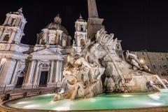 Fontana dei Quattro Fiumi. Centre Rome, Italy Royalty Free Stock Photos