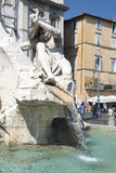 Fontana dei Quattro Fiumi Stock Photo