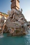 Fontana dei quattro fiumi, frammento Fotografie Stock Libere da Diritti