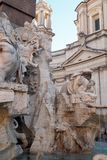 Fontana-dei Quattro Fiumi in Navona-Quadrat in Rom, Italien lizenzfreie stockbilder