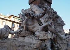 Fontana-dei Quattro Fiumi in Navona-Quadrat in Rom, Italien stockfoto