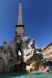 Fontana dei Quattro Fiumi and obelisk Stock Photography