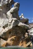 Fontana dei Quattro Fiumi on Piazza Navona Stock Images