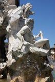 Fontana dei Quattro Fiumi at Piazza Navona, Rome Stock Photography
