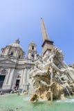 Fontana dei Quattro Fiumi, Piazza Navona in Rome Stock Image