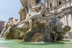 Fontana dei Quattro Fiumi, Piazza Navona in Rome Royalty Free Stock Images