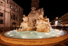 Fontana dei Quattro Fiumi Royalty Free Stock Photos