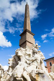 Fontana dei Quattro Fiumi, Rome Stock Photo