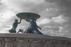 Fontana dei sacerdoti del serpente   La Valletta immagine stock libera da diritti