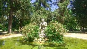 Fontana del acque del dalle di salvato di Moses Fontana Mosè nel giardino di Pincio vicino a Piazzale Napoleone, villa Borghese, fotografie stock