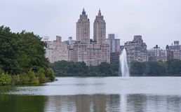Fontana del Central Park in New York fotografia stock libera da diritti