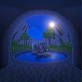 Fontana del cerchio nel Central Valley Fotografia Stock Libera da Diritti