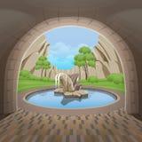 Fontana del cerchio nel Central Valley Immagine Stock Libera da Diritti