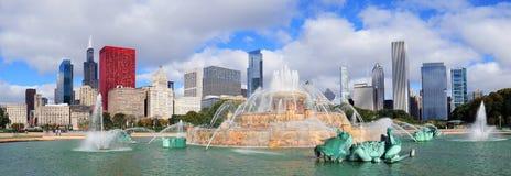 Fontana del Chicago Buckingham Fotografie Stock Libere da Diritti