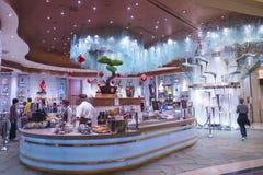Fontana del cioccolato di Bellagio immagine stock libera da diritti