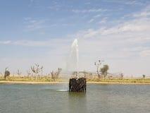 Fontana del cuore nei laghi love fotografia stock