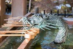 Fontana del drago al santuario fotografie stock libere da diritti