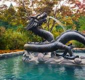 Fontana del drago in Victoria Immagini Stock