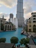 Fontana del Dubai Fotografia Stock Libera da Diritti