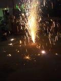 Fontana del fuoco d'artificio Immagine Stock