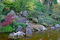 fontana del giardino botanico fotografia stock libera da diritti