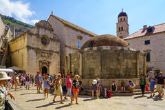 Fontana del grande Onofrio, Dubrovnik Fotografia Stock Libera da Diritti