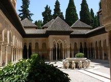 Fontana del leone di Alhambra Fotografie Stock Libere da Diritti