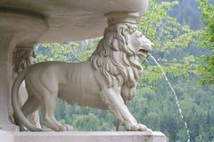 Fontana del leone in Hohenschwangau Fotografia Stock