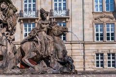 Fontana del margravio - nuovo castello Bayreuth Immagini Stock