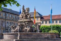 Fontana del margravio - nuovo castello Bayreuth Immagine Stock