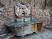 Fontana del Mascherone,罗马,意大利 图库摄影