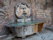 Fontana del Mascherone, Rome, Italy stock photography
