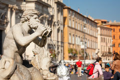 Fontana del Moro stock afbeelding