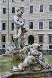 Fontana del Moro em Roma, Itália Imagem de Stock