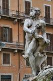 Fontana del Moro em Roma, Itália Imagens de Stock Royalty Free