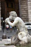 Fontana del Moro (leg Fontein vast) in Piazza Navona Rome, royalty-vrije stock fotografie