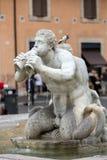 Fontana del Moro (leg Fontein vast) in Piazza Navona rome royalty-vrije stock foto's