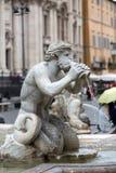 Fontana del Moro (leg Fontein vast) in Piazza Navona Rome, royalty-vrije stock afbeeldingen