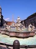 Fontana Del Moro, Marktplatz Navona, Rom. Stockfotografie
