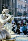 Fontana Del Moro am Marktplatz Navona in Rom Lizenzfreies Stockfoto
