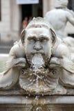 Fontana-del Moro Moor Fountain im Marktplatz Navona rom stockbilder
