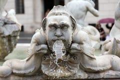 Fontana del Moro (Moor Fountain) in Piazza Navona. Rome, Royalty Free Stock Photo