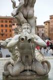 Fontana del Moro (Moor Fountain) in Piazza Navona. Rome, Royalty Free Stock Photos