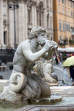 Fontana del Moro (Moor Fountain) in Piazza Navona. Rome, Royalty Free Stock Images