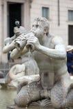 Fontana del Moro Moor Fountain in Piazza Navona. Rome Royalty Free Stock Photo
