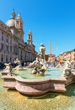 Fontana del Moro (Moor Fountain) at the Piazza Navona in Rome Stock Photography