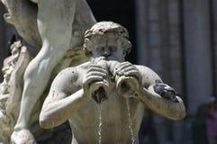 Fontana del Moro Piazza Navona, Rome Stock Image