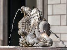 Fontana del Moro, Piazza Navona, Rome, Italië royalty-vrije stock afbeeldingen