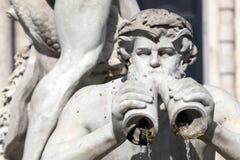 Fontana del Moro, Piazza Navona, Rome, Italië royalty-vrije stock foto's